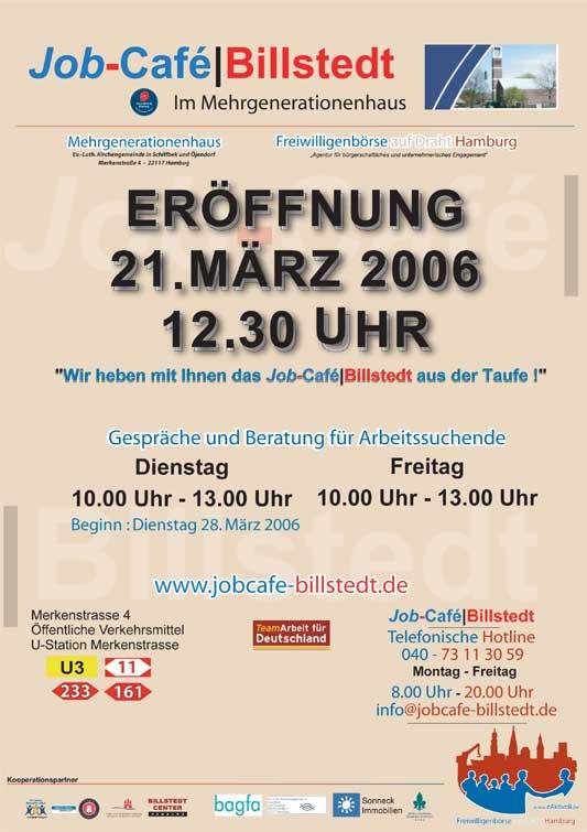 Eröffnung Job-Cafe Billstedt am 21. März 2006