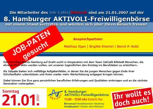 Job-Cafe Billstedt auf 8. Hamburger AKTIVOLI-Freiwilligenbörse